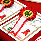 prize card and rosette
